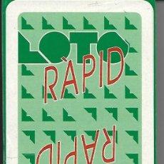 Barajas de cartas: BARAJA NAIPE ESPAÑOL PUBLICIDAD DE LOTO RAPID, PRECINTADA. NAIPES COMAS.. Lote 67165237