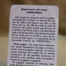 Barajas de cartas: ORZOWEI, INSTRUCCIONES O REGLAMENTO DE JUEGO DE BARAJAS INFANTIL, FOURNIER, 1978. Lote 67241305