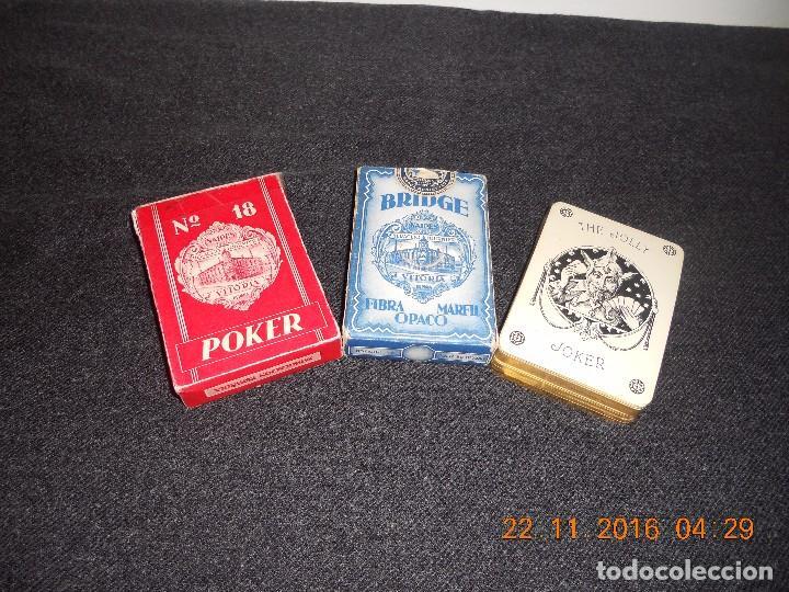 3 ANTIGUAS BARAJAS DE CARTAS DE LOS AÑOS 60 (Juguetes y Juegos - Cartas y Naipes - Baraja Española)