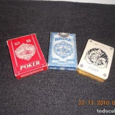 Barajas de cartas: 3 ANTIGUAS BARAJAS DE CARTAS DE LOS AÑOS 60. Lote 67327729