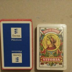 Barajas de cartas: BARAJA DE CARTAS HERECLIO FOURNIER PUBLICIDAD ERCROS PLASTICOS 40 CARTAS NAIPES PRECINTADA SIN USAR. Lote 67546061