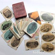 Barajas de cartas: BARAJA POKER MUY ANTIGUA, NAIPES CON FOTOS CONSTRUCCIÓN DEL CANAL DE PANAMÁ, VER FOTOS ADJUNTAS. Lote 67638965