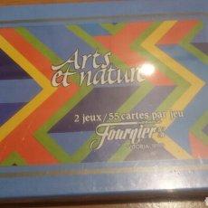 Barajas de cartas: CARTAS DE FOUERNIET 2 BARAJAS DE ARTS ET NATURE SIN DESPRECINTAR. Lote 67657397