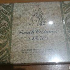 Barajas de cartas: BARAJA DE FOUERNIET 2 BARAJAS FRENCH COSTUMES 1850 SIN DESPRECINTAR . Lote 67658178