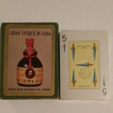 Barajas de cartas: BARAJA DE CARTAS FOURNIER POKER ESPAÑOL PUBLICIDAD BRANDY GRAN DUQUE DE ALBA NAIPES PRECINTADA. Lote 67768665