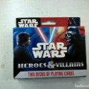Barajas de cartas: STAR WARS-HEROES & VILLAINS-TWO DECKS OF PLAYING CARDS-N.. Lote 67829517