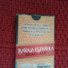 Barajas de cartas: BARAJA ESPAÑOLA SIGLO XIX - REPRODUCCIÓN - FOURNIER. Lote 67846825