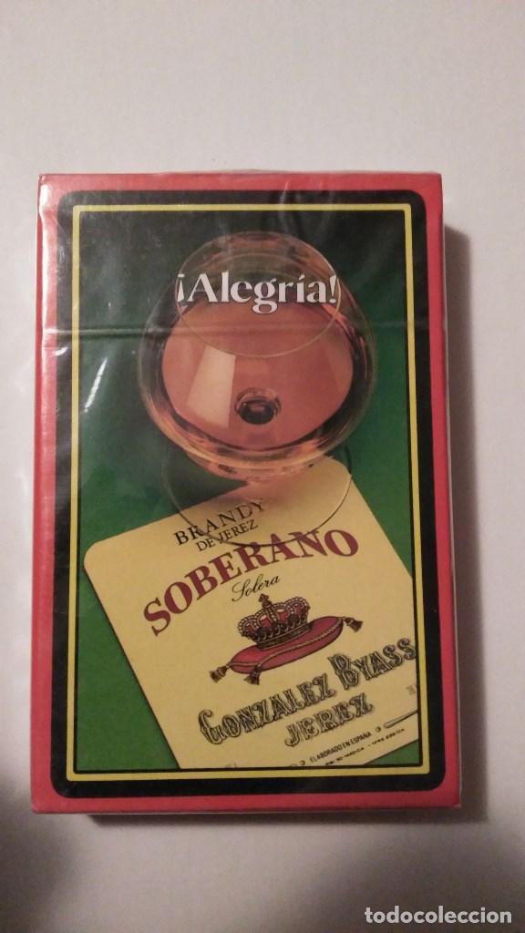 BARAJA DE CARTAS HERACLIO FOURNIER PUBLICIDAD BRANDY SOBERANO JEREZ 40 CARTAS PRECINTADA NAIPES (Juguetes y Juegos - Cartas y Naipes - Otras Barajas)
