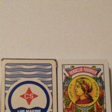 Barajas de cartas: BARAJA DE CARTAS FOURNIER PUBLICIDAD ACEITES Y LUBRICANTES CS LUB MARINE 50 CARTAS SIN USAR. Lote 67988597