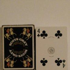 Barajas de cartas: BARAJA DE CARTAS HERACLIO FOURNIER PUBLICIDAD WHISKY SCOTS GREY POKER 54 CARTAS NAIPES SIN USAR . Lote 68271685