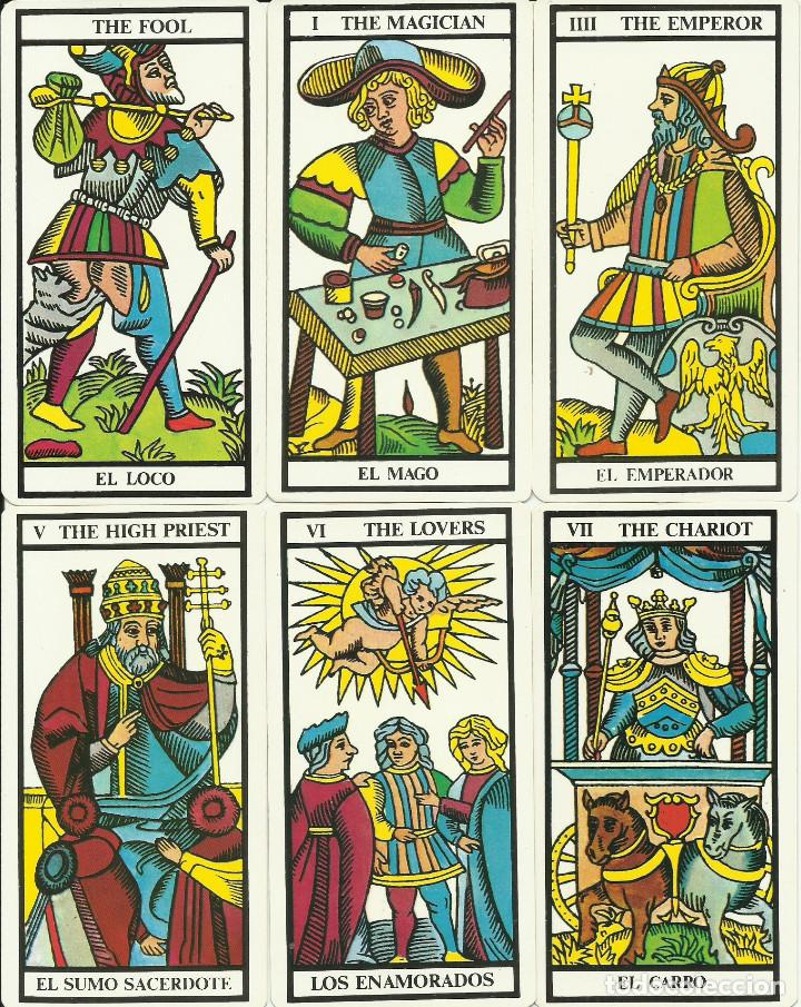 18 ARCANOS CARTAS DE TAROT TAMAÑO 12 X 6 CM. LOS DE LAS FOTOS (Juguetes y Juegos - Cartas y Naipes - Barajas Tarot)