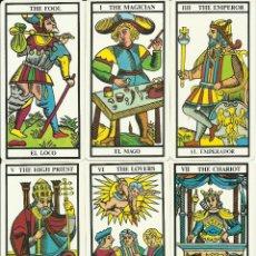 Barajas de cartas: 18 ARCANOS CARTAS DE TAROT TAMAÑO 12 X 6 CM. LOS DE LAS FOTOS. Lote 68373489