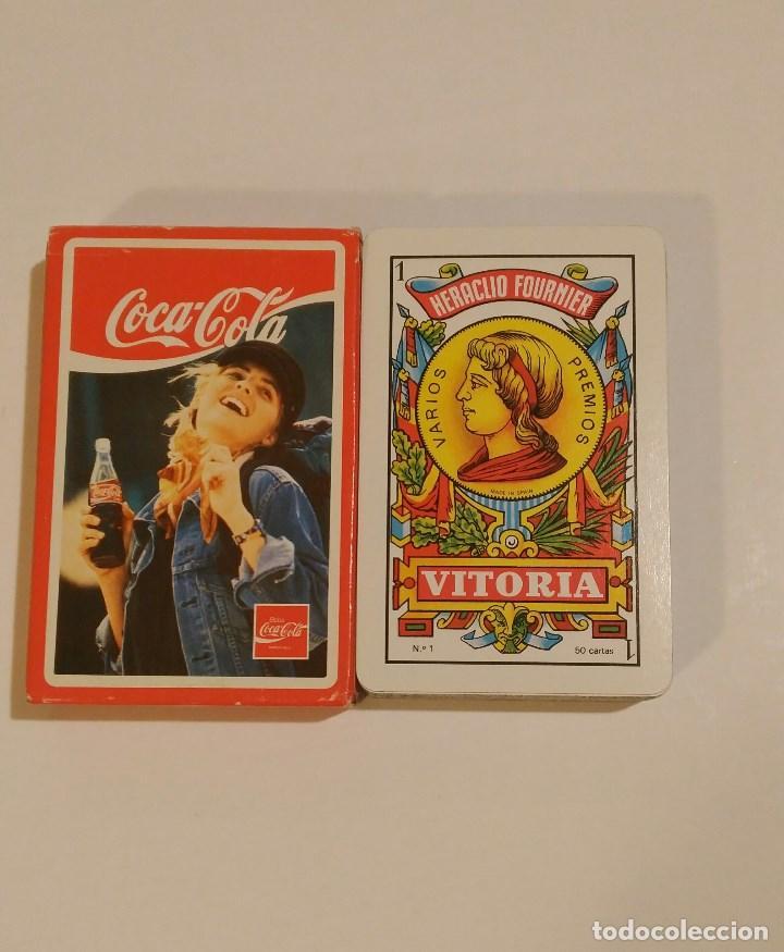 BARAJA DE CARTAS HERACLIO FOURNIER PUBLICIDAD COCA COLA 50 CARTAS BEBIDAS NAIPES (Juguetes y Juegos - Cartas y Naipes - Otras Barajas)