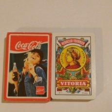Barajas de cartas: BARAJA DE CARTAS HERACLIO FOURNIER PUBLICIDAD COCA COLA 50 CARTAS BEBIDAS NAIPES. Lote 68411277