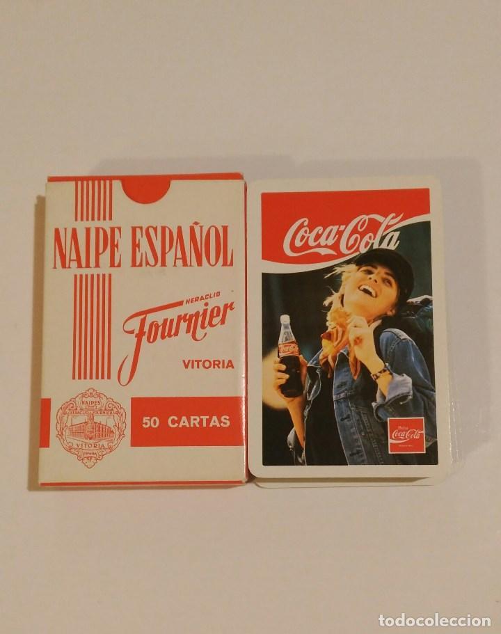Barajas de cartas: BARAJA DE CARTAS HERACLIO FOURNIER PUBLICIDAD COCA COLA 50 CARTAS BEBIDAS NAIPES - Foto 2 - 68411277