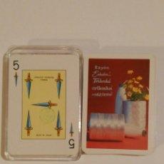 Barajas de cartas: BARAJA DE CARTAS FOURNIER PUBLICIDAD IBERENKA HILOS DE COSER 54 CARTAS POKER ESPAÑOL SIN USAR. Lote 68414057