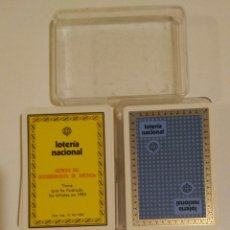 Barajas de cartas: BARAJA FOURNIER PUBLICIDAD LOTERIA NACIONAL (GENESIS DEL DESCUBRIMIENTO DE AMERICA) POKER ESPAÑOL . Lote 68414753