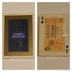 Barajas de cartas: BARAJA DE CARTAS HERACLIO FOURNIER PUBLICIDAD LOTERIA NACIONAL NAIPES POKER SIN USAR PRECINTADA. Lote 68414973
