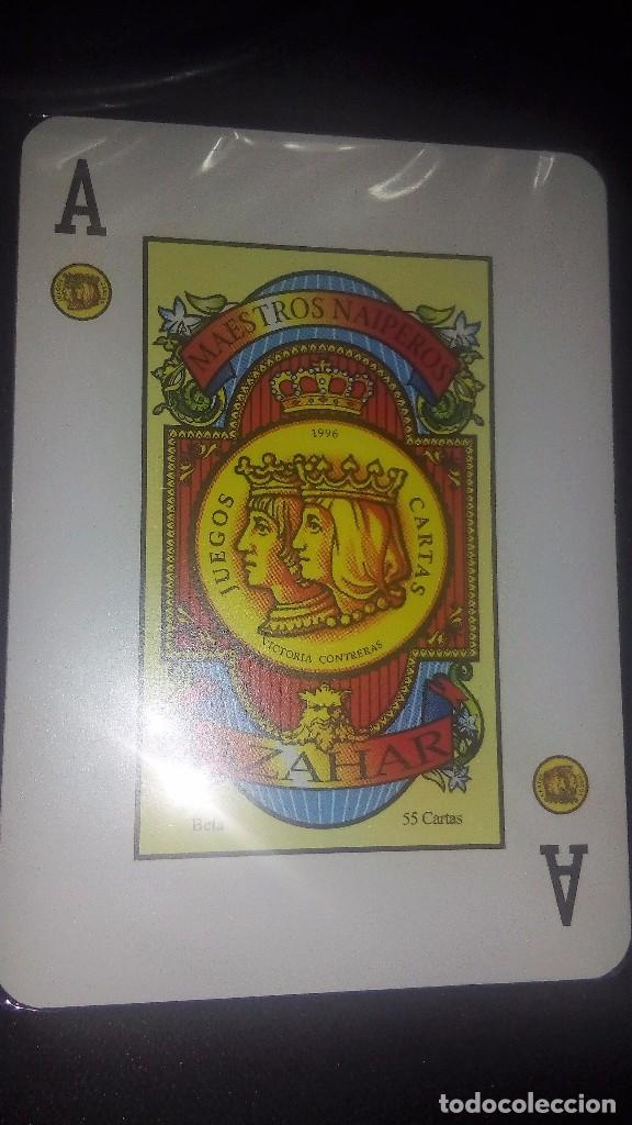 Barajas de cartas: BARAJA ESPAÑOLA DE MAESTROS NAIPEROS ESPAÑOLES- MODELO AZAHAR-PRECINTADA - Foto 2 - 190279787