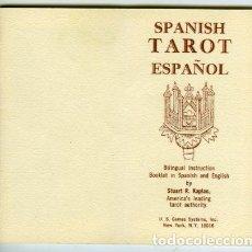 Baralhos de cartas: SPANISH TAROT ESPAÑOL. INSTRUCCIONES BILINGÜES, POR STUART R. KAPLAN, MÁXIMA AUTORIDAD EN TAROT. Lote 68516189