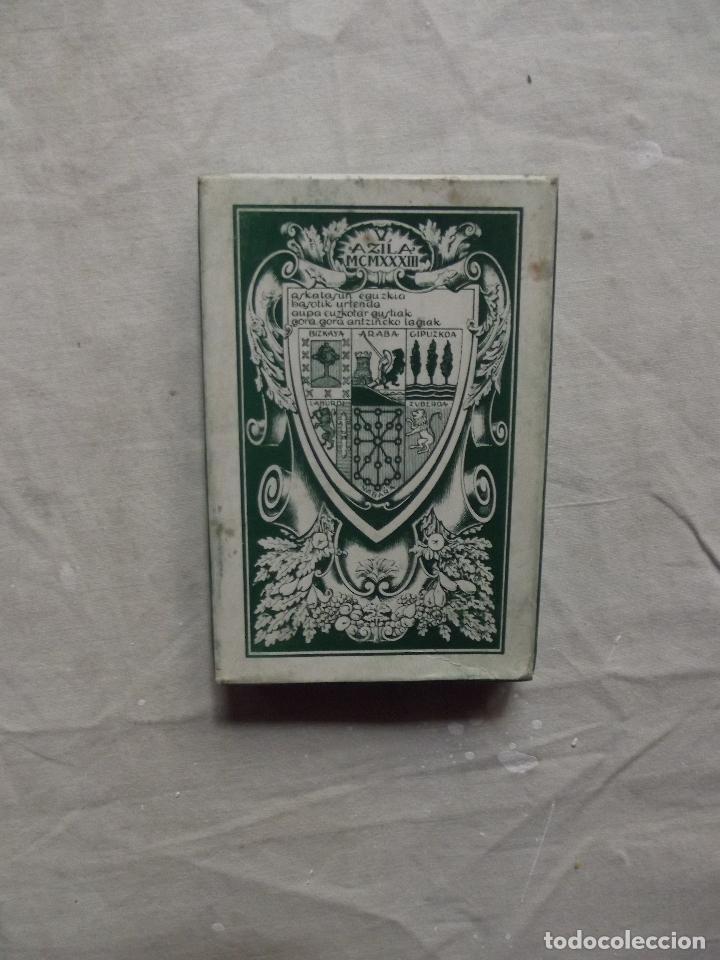 Barajas de cartas: NAIPE VASCO EUSKADI 1986 REEDICION DE LA DEL 1933 - Foto 3 - 84833470