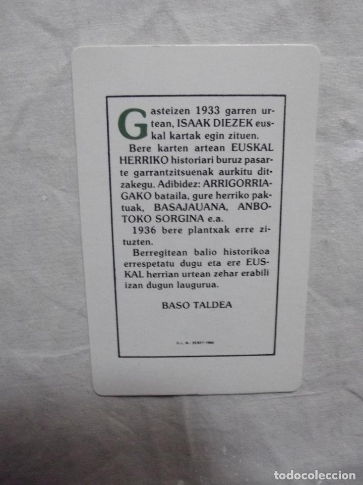 Barajas de cartas: NAIPE VASCO EUSKADI 1986 REEDICION DE LA DEL 1933 - Foto 6 - 84833470