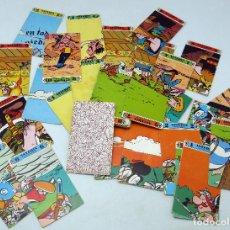 Barajas de cartas: BARAJA ASTERIX CARTOPUZZLE INCOMPLETA FALTAN 7 CARTAS SIN CAJA 1973. Lote 69598741