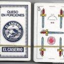 Barajas de cartas: BARAJA NAIPE ESPAÑOL AÑOS 60, PUBLICIDAD EL CASERIO, TIMBRE ROJO. PRECINTADA SIN ESTRENAR.. Lote 89624503