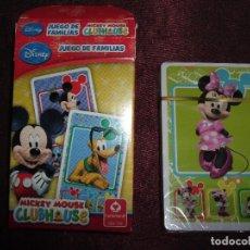 Barajas de cartas: BARAJA. CARTAS INFANTILES MICKEY MOUSE. JUEGO DE FAMILIAS. NAIPES. Lote 69819561