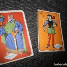 Barajas de cartas: LOTE 2 CROMOS NAIPES CINE CHOCOLATES LA FAMA .BENVENTE ZAMORA . Lote 70183569