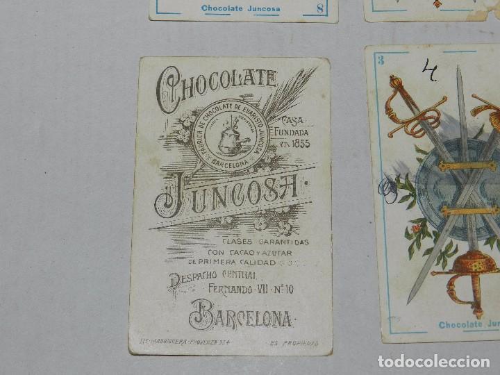 Barajas de cartas: (M) BARAJA - CHOCOLATE JUNCOSA , SE VENDEN SUELTOS A 6 EUROS UNIDAD , SEÑALES DE USO - Foto 2 - 70349057