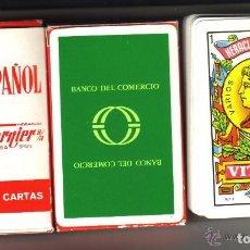 Barajas de cartas: BARAJA ESPAÑOLA PUBLICIDAD DEL DESAPARECIDO BANCO DEL COMERCIO. Lote 71847811