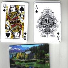 Barajas de cartas: BARAJA DE POKER CON REVERSO DE PAISAJE SUIZO (NUEVA). Lote 71848195