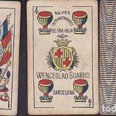 Barajas de cartas: BARAJA NAIPES GUARRO Y CIA TIMBRE DE 30 CENTIMOS . Lote 72235263