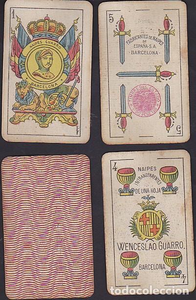 BARAJA NAIPES GUARRO TIMBRE DE 1.20 PESETAS (Juguetes y Juegos - Cartas y Naipes - Baraja Española)