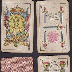 Barajas de cartas: BARAJA NAIPES GUARRO TIMBRE DE 1.20 PESETAS. Lote 72235527