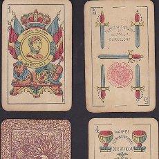 Barajas de cartas: BARAJA NAIPES GUARRO TIMBRE DE 1.20 PESETAS. Lote 72235723