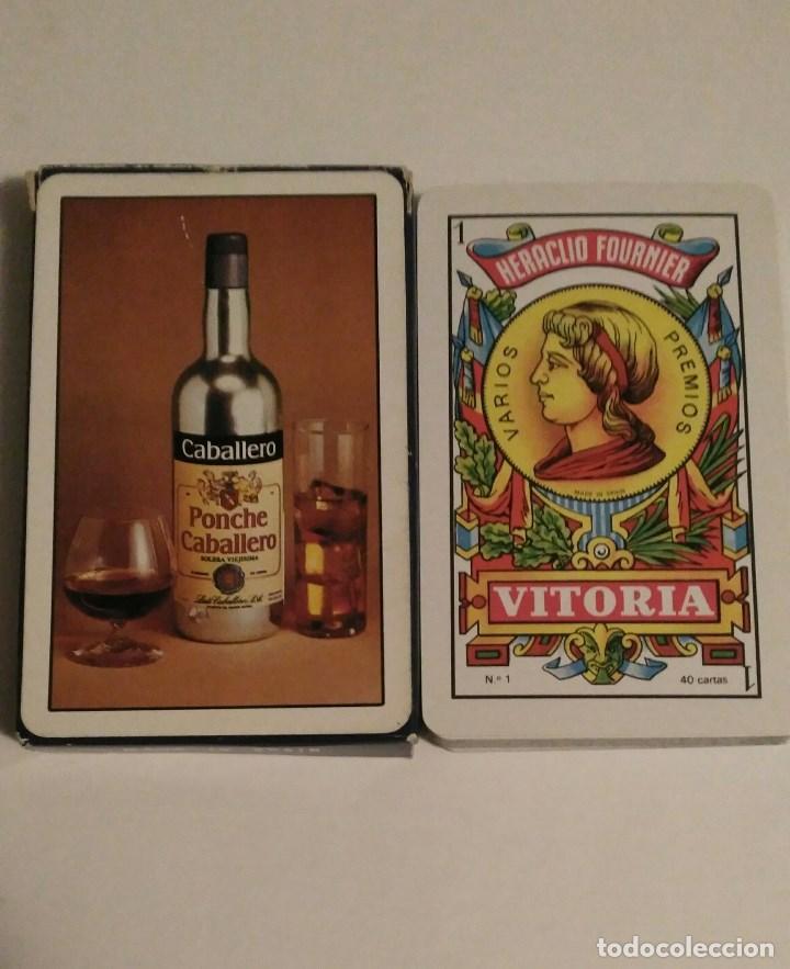 BARAJA DE CARTAS HERACLIO FOURNIER PUBLICIDAD PONCHE CABALLERO 40 CARTAS NAIPES NUEVAS (Juguetes y Juegos - Cartas y Naipes - Otras Barajas)