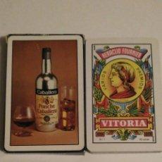 Barajas de cartas: BARAJA DE CARTAS HERACLIO FOURNIER PUBLICIDAD PONCHE CABALLERO 40 CARTAS NAIPES NUEVAS. Lote 72267755