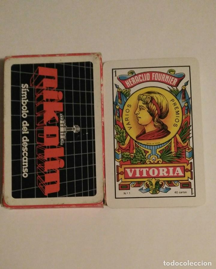 BARAJA DE CARTAS HERACLIO FOURNIER PUBLICIDAD COLCHONES PIKOLIN 40 CARTAS NAIPES (Juguetes y Juegos - Cartas y Naipes - Otras Barajas)