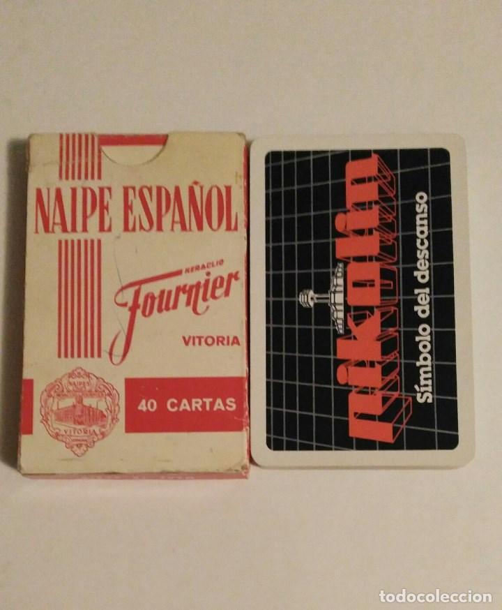 Barajas de cartas: BARAJA DE CARTAS HERACLIO FOURNIER PUBLICIDAD COLCHONES PIKOLIN 40 CARTAS NAIPES - Foto 2 - 72268267