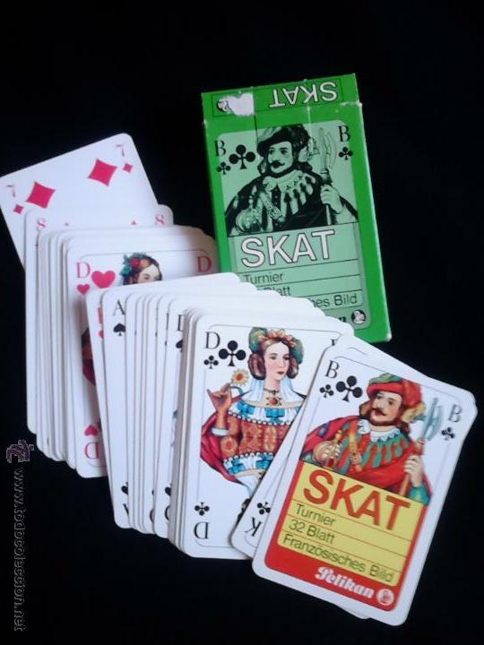 BARAJA DE CARTAS SKAT. PUBLICIDAD PELIKAN. (Juguetes y Juegos - Cartas y Naipes - Otras Barajas)