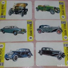 Barajas de cartas: LOTE 6 X CARTAS COCHES ROLLS ROYCE - CARTAS DE LA BARAJA EL JUEGO DE LOS COCHES. Lote 73719595
