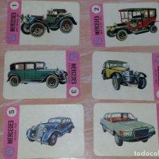Barajas de cartas: LOTE 6 X CARTAS COCHES MERCEDES BENZ CARTAS DE LA BARAJA EL JUEGO DE LOS COCHES. Lote 73719695