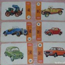 Barajas de cartas: LOTE 6 X CARTAS COCHES FIAT / SEAT - CARTAS DE LA BARAJA EL JUEGO DE LOS COCHES. Lote 73719875
