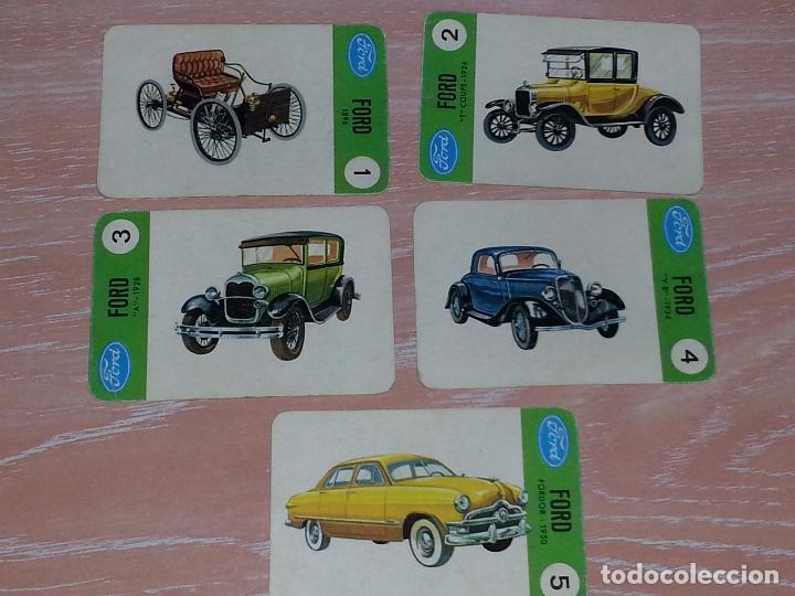 LOTE 5 X CARTAS COCHES FORD - CARTAS DE LA BARAJA EL JUEGO DE LOS COCHES (Juguetes y Juegos - Cartas y Naipes - Barajas Infantiles)
