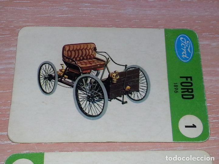 Barajas de cartas: LOTE 5 X CARTAS COCHES FORD - CARTAS DE LA BARAJA EL JUEGO DE LOS COCHES - Foto 3 - 73719931