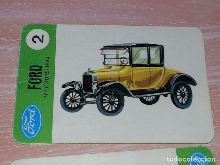 Barajas de cartas: LOTE 5 X CARTAS COCHES FORD - CARTAS DE LA BARAJA EL JUEGO DE LOS COCHES - Foto 4 - 73719931