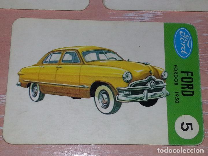 Barajas de cartas: LOTE 5 X CARTAS COCHES FORD - CARTAS DE LA BARAJA EL JUEGO DE LOS COCHES - Foto 7 - 73719931