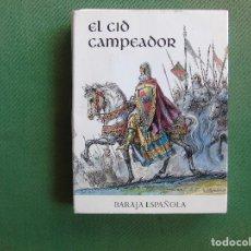 Barajas de cartas: BARAJA ESPAÑOLA, CONMEMORATIVA DEL IX CENTENARIO DE LA MUERTE DEL CID CAMPEADOR. 1099 - 1999. . Lote 73786287